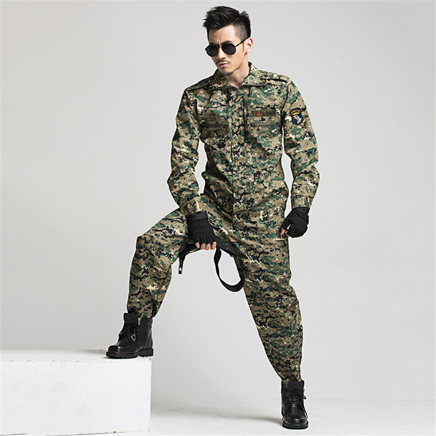 Military Uniform Tactical Camouflage Combat Clothing Men Army Special Forces Soldier Training Work Wear Adult Clothes Pant Set 3