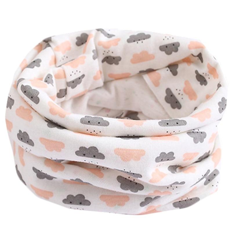 Весенне-осенне-зимний детский хлопковый шарф для От 0 до 10 лет, Детские шарфы с героями мультфильмов, модный теплый воротник - Цвет: 14