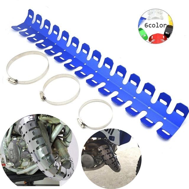 Lumiparty para honda crf450x crf250x crf250l crf 450x/250lx/250l protetor de escape da motocicleta capa escudo calor r30