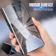 Case For Huawei Honor View 30 20 V20 Case Mirror Smart Leather Shockproof Kickstand Flip Cover For Huawei Honor View 10 V10 V30 aurora luminous phone case for huawei honor view v30 v20 v10 night shine bcak cover for honor v30 dazzle colour glass case coque