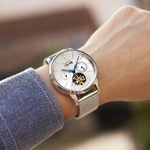 Switzerland brand automatic watch men luxury full steel waterproof mechanical men watches clock montre reloj hombre relogio hour все цены