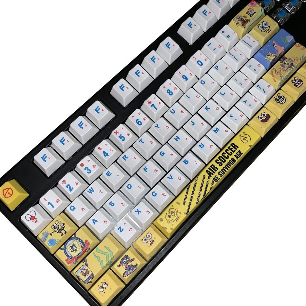 Cherry Profile PBT Keycaps  For Mechanical Keyboard Cherry Blossoms Key Caps Mechanical Keyboard Key Cap GK61 GK64