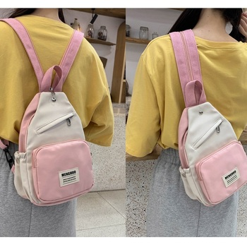 Korean Style Waterproof Canvas Small Mini Backpack For Women Fashion Travel School Bag Tennage Girl Shoulder