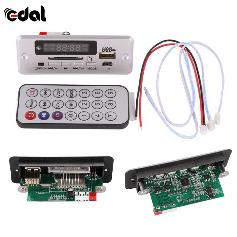 Useful Wireless MP3 Player Decoder Board Audio Module USB TF Radio For Car Red Digital LED With Remote Controller New