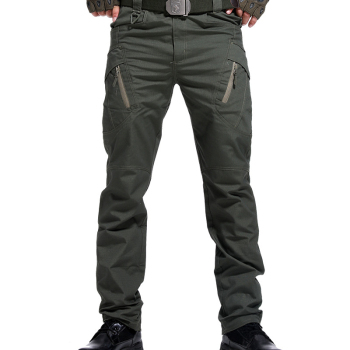 Men Many Pockets Outdoor Waterproof  Wear Resistant Casual Cargo Pants 2