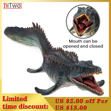 HiTwo Prehistoric Jurassic Savage Animals Mosasaurus Action Figures Sealife Model PVC High Quality Cognition Toys Gift For Kids