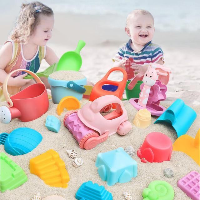 9/17pcs Strand Zand Speelgoed Voor Baby Kinderen Kasteel Emmer Spade Schop Hark Water Spel Spelen Voor Kinderen spelen En Plezier Clear
