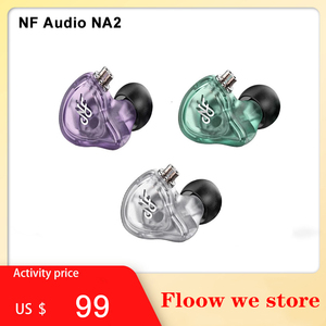 NF Audio NA2 Dual Cavity Dynamic In ear Monitor Earphone Hifi Music Audiophile Musician IEMs Earbuds 2 Pin 0.78mm Cable