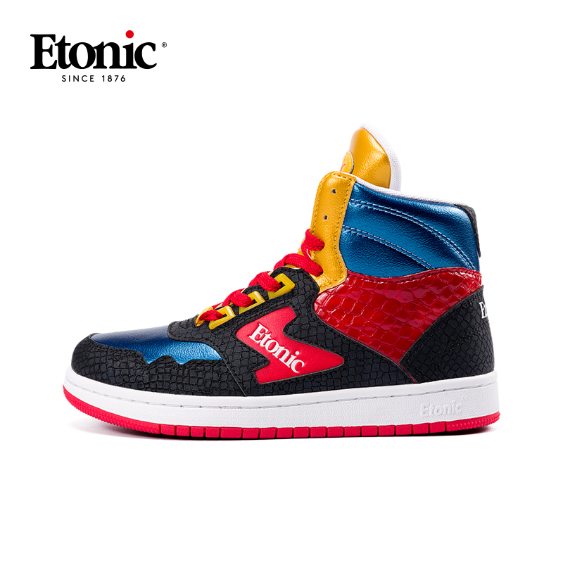 ETONIC Basketball Shoes Men High-top Breathable Shockproof Basketball Boots Couple Sneakers Air Force 1 Men Athletic Gym Shoes