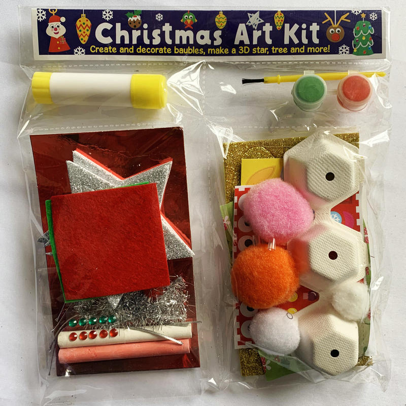 1bag/LOT.Christmas Art Kit Create And Decorate Baubles Make 3D Star Tree And More Early Learning Educational Toys Kindergarten