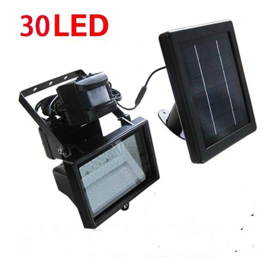 30 diodo emissor de luz solar de poupanca de energia lampada de projecao de luz sensor