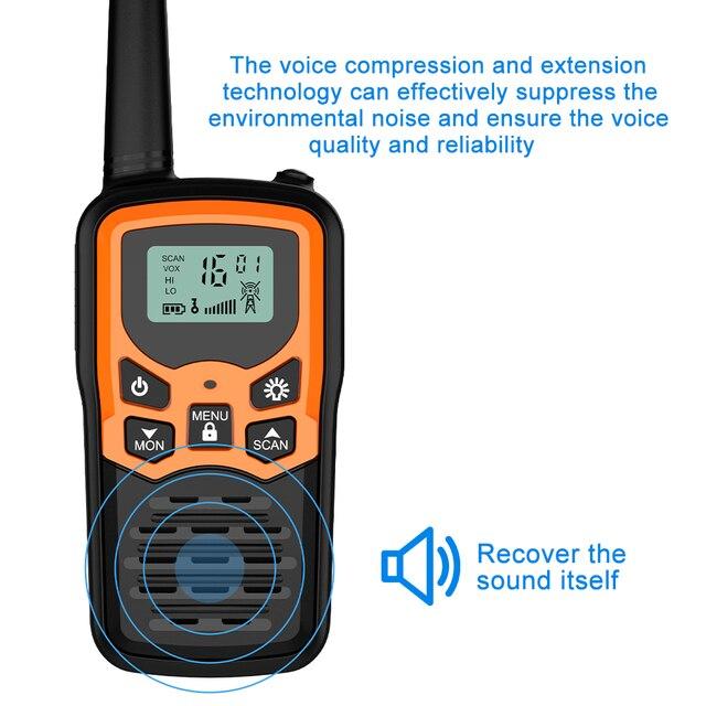 (2pcs) Mini Handheld Walkie Talkie Portable Radio High Power VHF Handheld Two Way Ham Radio Communicator Transceiver рация 5 KM 4