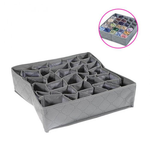 Lagerung Box 30 Zellen Faltbare Kleidung Schublade <font><b>Organizer</b></font> Beutel Holzkohle Unterwäsche Socken Schublade <font><b>Organizer</b></font> Fall Container image