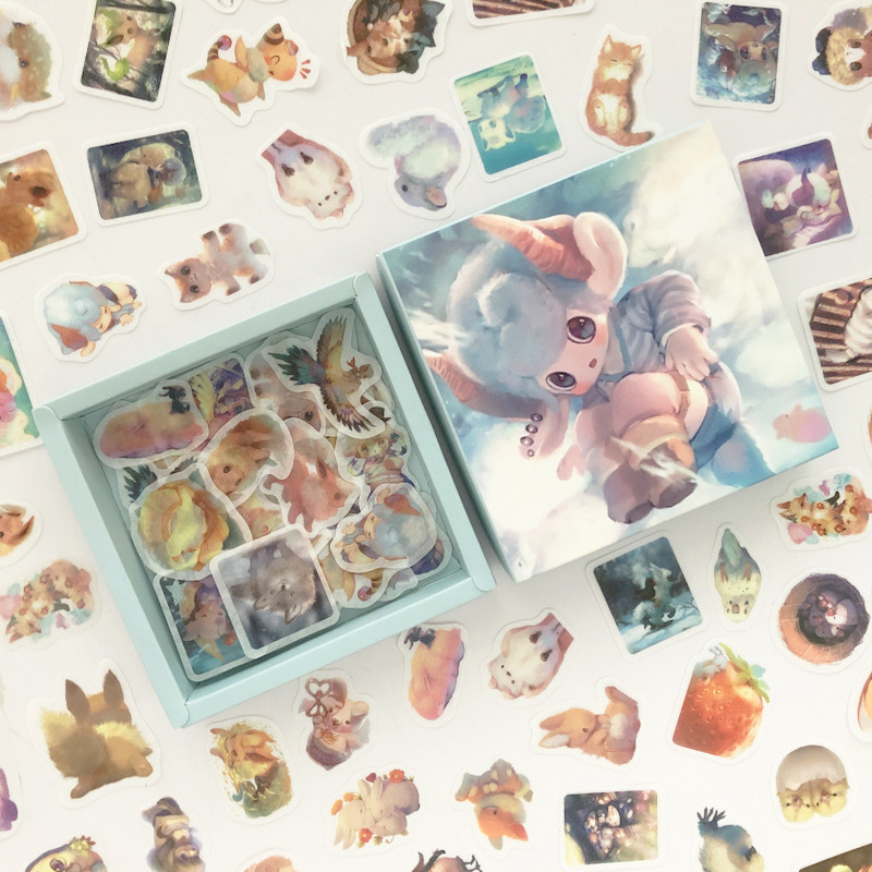 200 Pcs/pack Magic Baby Rabbit Cat Series Box Bullet Journal Decorative Stationery Stickers Scrapbooking DIY Diary Album Stick