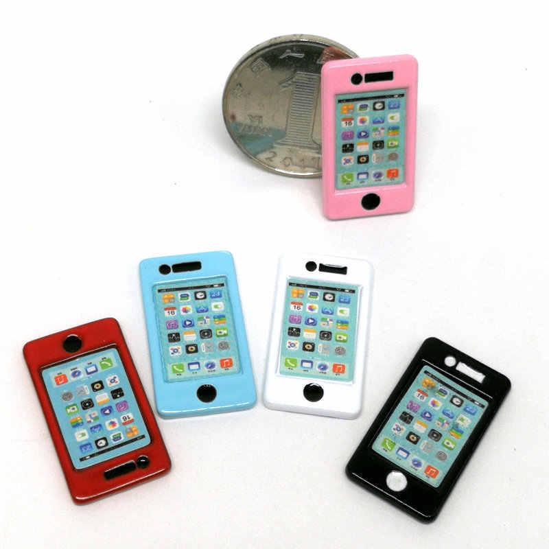 Boneca Bonito 1:6/Escala 1:12 Dollhouse mini ipad telefone peças de Boneca Boneca de Brinquedo Em Miniatura de Alimentos Da Cozinha sala de estar Acessórios