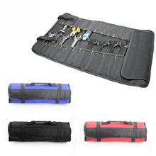 купить Multifunction Oxford Cloth Folding Wrench Bag Tool Roll Storage Pocket Tools Pouch Portable Case Organizer Holder дешево