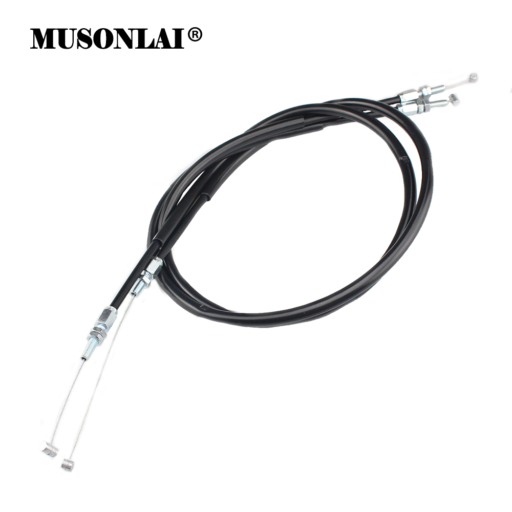 Motorcycle Accelerator Cable Push Pull Throttle Control Oil Cables Line Wire for Honda XR250 XR 250 1995 1996 1997 1998-2012 image