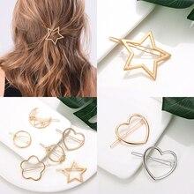 Модные аксессуары для волос треугольный зажим для волос шпильки геометрической формы узел заколки Луна круг заколка для волос для девочек украшение для укладки волос