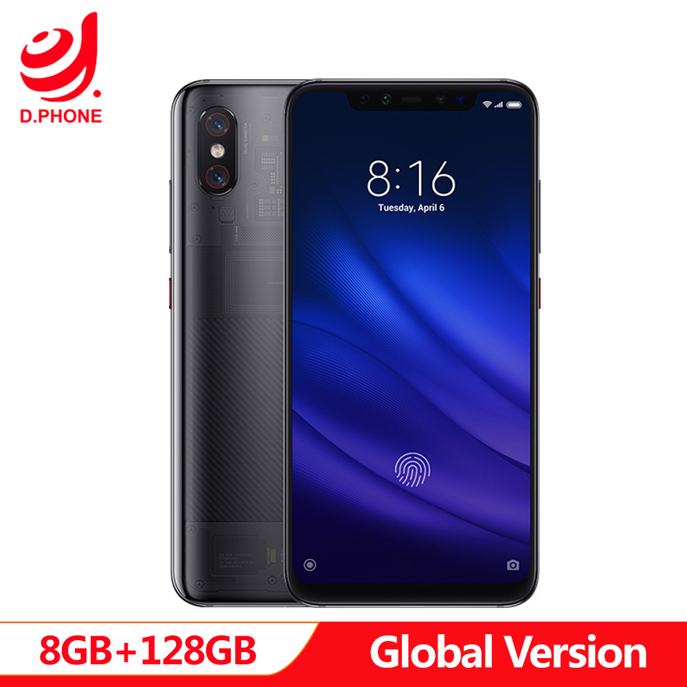 In Stock Global Version Xiaomi MI 8 Pro 8GB 128GB 6.21'' Full Screen Snapdragon 845 Octa Core Dual Band GPS NFC Mi8 Pro Phone-in Cellphones from Cellphones & Telecommunications