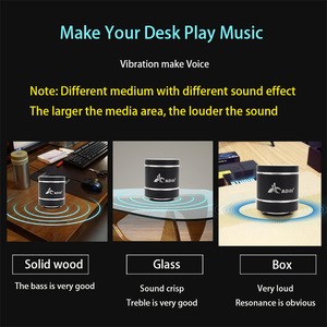 Image 2 - Adin Portable Bluetooth Vibration Speakers With Fm Radio Remote Mini Vibrating Speaker Wireless Subwoofer Bass Speaker For Phone