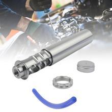 Filtro de combustible para coche, espiral, 1/2 28 o 5/8 24, de un solo núcleo de titanio, filtro de combustible para coche con tubo para NAPA 4003 WIX 24003 solo para coches