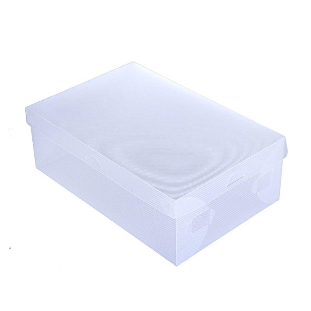 Women/Men 10pcs Transparent Plastic Shoes Storage Boxes Shoes Container Box Case Holder Foldable Shoes Box Shoe Organizer
