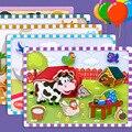 Vokmascot Montessori Game Early Educational Montessori Toys Puzzle Card Animal Dragon Panda Pair Matching Game Toys for Children