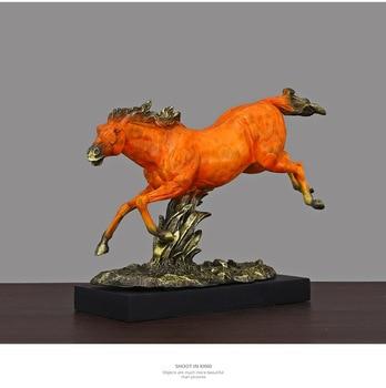 Modern model running horse artwork resin craft desktop sculpture living room home decoration business gift a0720