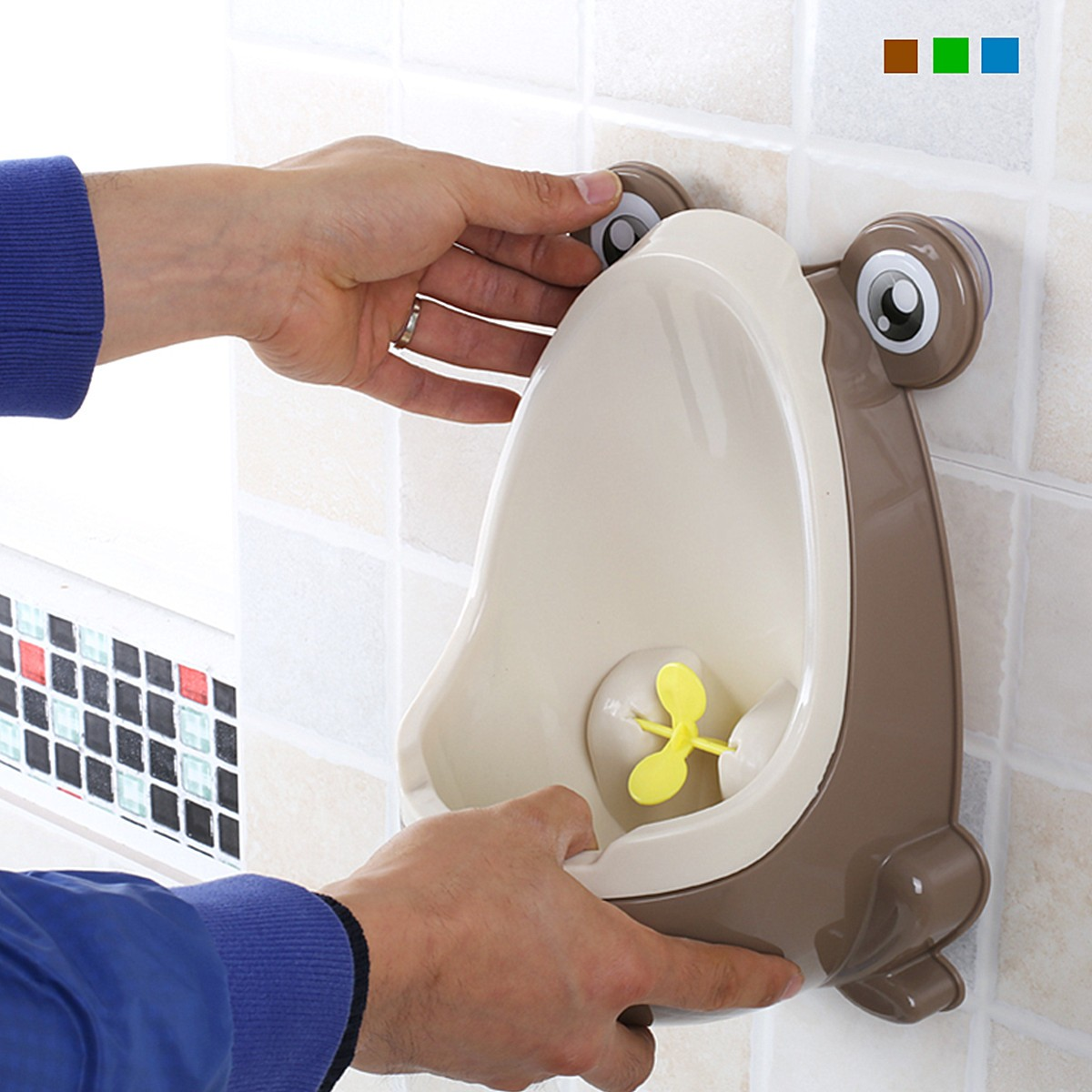 Cute Frog-Shaped Children Potty Toilet Training Urinal Boys Pee Trainer Bathroom Coffee Blue-orange Green No Peculiar Smell