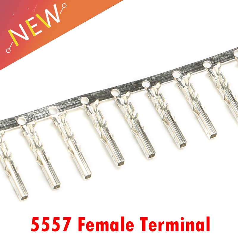 100pcs/Lot 4.2mm 5557 Series Male & Female Terminal Pins For PC ATX/PCI-E/EPS Power Supply Cable.