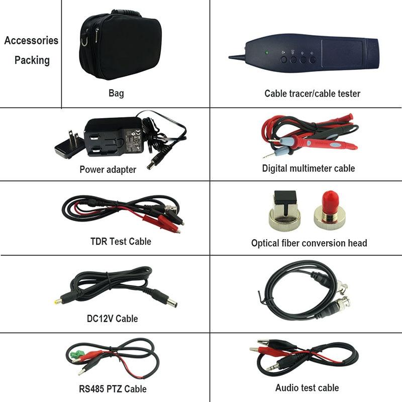 H.265 cctv ip Kameratester 4K 8MP ipc tester cctv TVI CVI AHD SDI - Sikkerhet og beskyttelse - Bilde 6