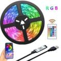 LED Streifen Licht Bluetooth USB Powered Led-leuchten Streifen Mit Fernbedienung RGB 2835 Farbwechsel LED TV Backlights Für Hause decor