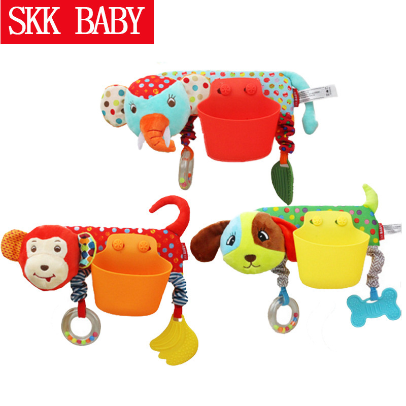 SKK Baby Stroller Hot Selling Pendant Storage Pocket Cartoon Animal Convenient Hanging Bag Teether Toy