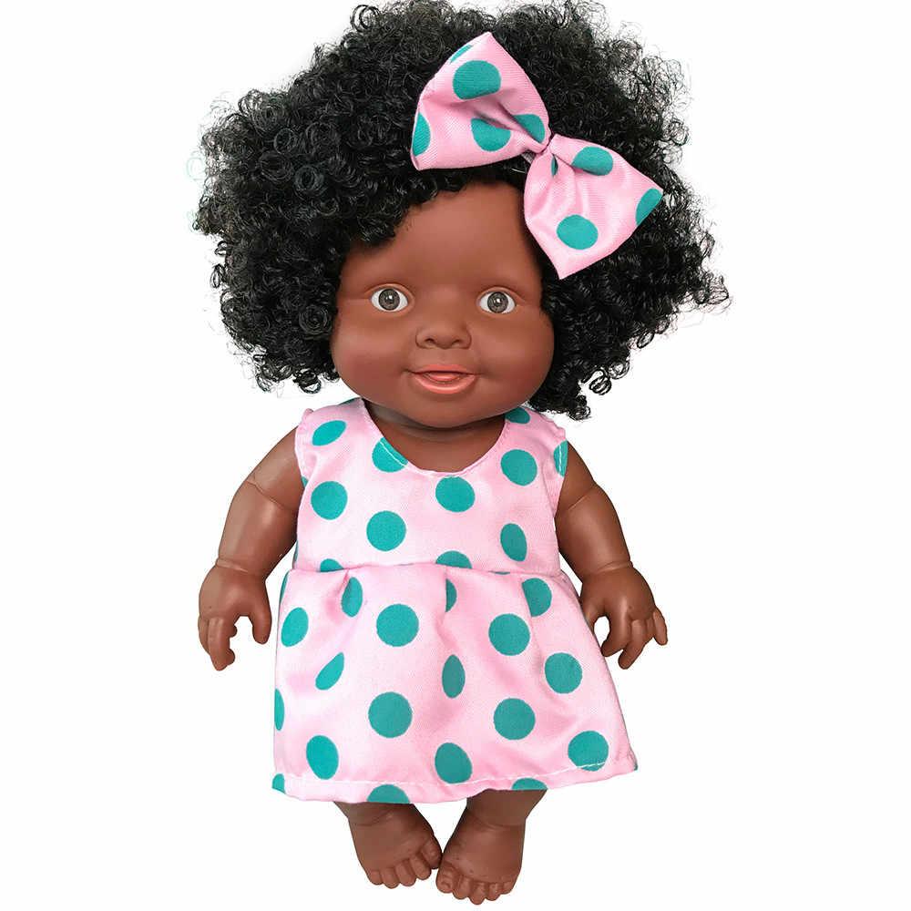Hiinst 2019 Nieuwe Baby Poppen Voor Meisjes Baby Beweegbare Gezamenlijke Afrikaanse Pop Speelgoed Zwarte Pop Beste Cadeau Speelgoed Hot Koop baby Poppen Voor Kinderen