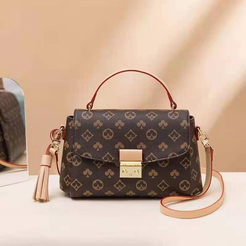 Luxury Fashion New Printed Color Matching Handbag Shoulder Bag Women's Bag Fashion Tote Handbags Large Capacity One-Shoulder Han