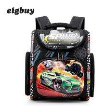 Kids Primary School Bag Backpack Boys Racing Car Orthopedic Knapsack Children School Bags Girls Butterfly Satchel Mochila цена