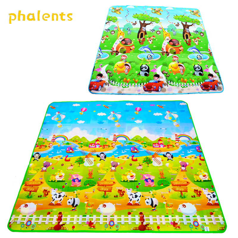Baby Play Mat Playmat For Kids Children Carpet Thick Crawling Pad 200*180*0.5CM Cartoon Puzzle Non-slip Room Floor Rug Game Mat