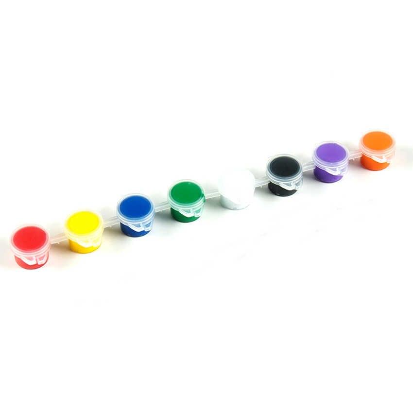3ml/5ml 6/8 farben kinder zeichnung DIY acryl malen waterbrush pigment set, für kleidung textil stoff, papier, bambus, leder