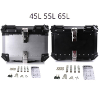 45L 55L 65L Universal Motorcycle Rear Trunk Tail Box Removable Luggage Helmet Lock Toolbox Case Aluminum Alloy Modified