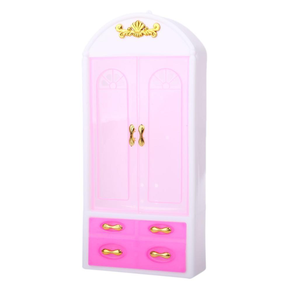 Doll Closet Wardrobe Princess Bedroom Furniture Doll Accessories For Barbie Dolls Girl Doll