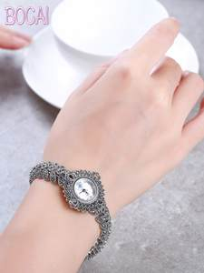 The new elegant business 925 sterling silver women's autumn bracelet watches