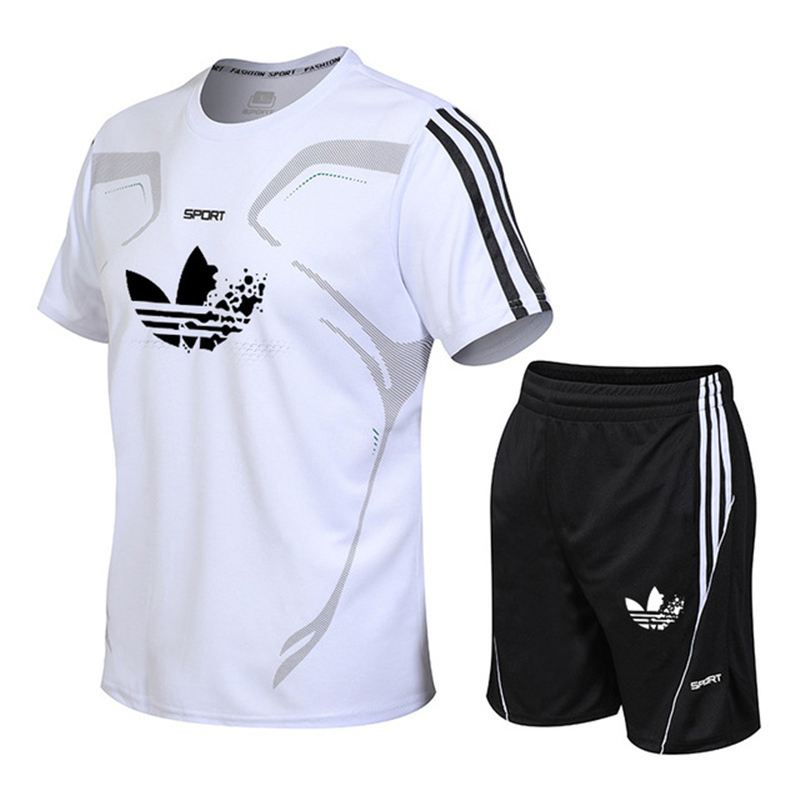 Sport-Suits Men-Sets Breathable Summer Fitness-Training Brand Gym