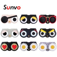 Первоклассные ПУ кожаные очки для очков Модные складные солнцезащитные очки коробка сумка бинокль футляр для очков