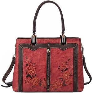 Image 4 - Johnature Retro Handmade Genuine Leather Luxury Handbags Women Bags Designer 2020 New Large Capacity Shoulder & Crossbody Bags
