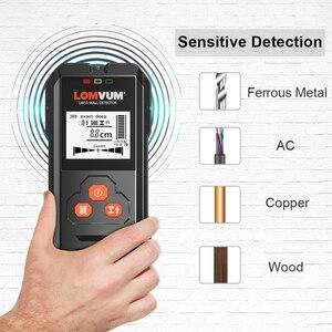 Image 4 - Lomvum Multi Functionele Digitale Metalen Muur Detector Bedrading Hout Ac Voltage Live Handheld Lcd scherm Stud Finder