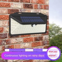 102 LED Solar Light Outdoor Solar Lamp Powered Sunlight Waterproof IP65 Motion Sensor Street Light Wall Light Garden Spotlight