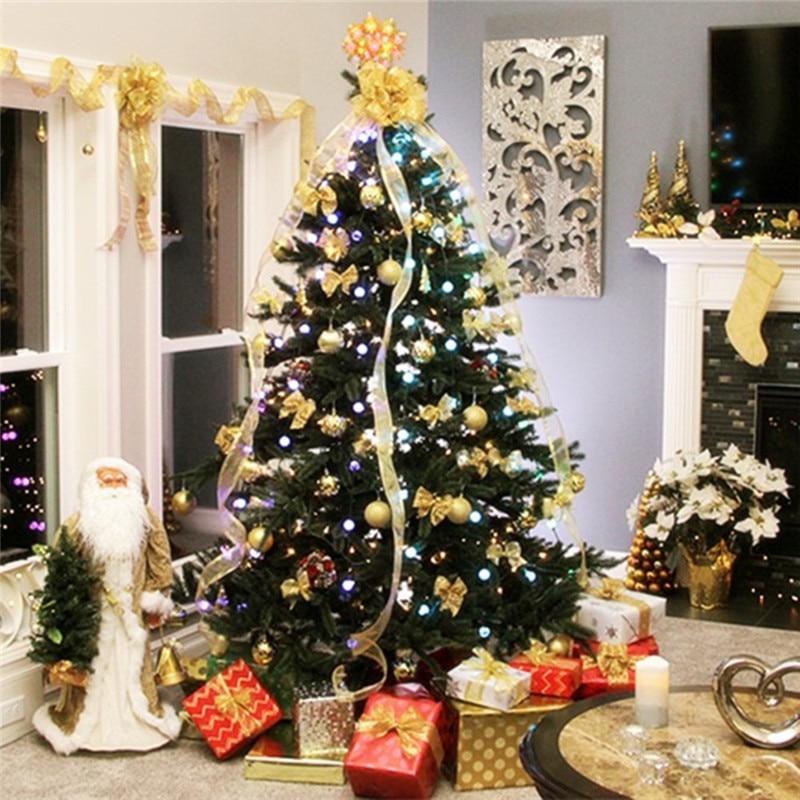 Рождественская елка Dazzler светодиодный гирлянда Праздничные огни цветная сменная Мерцающая ночь Свадебная лампа Новогоднее украшение сада