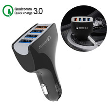 12V USB Car Cigarette Lighter Socket Charging For Phone QC 3.0 Quick Charger Universal Cars Usb Splitter Auto Mobile Charge(China)
