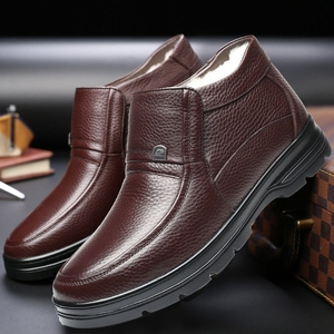 Image 5 - 36~48 natural wool winter boots men warmest comfortable leather men winter shoes #HQN8812