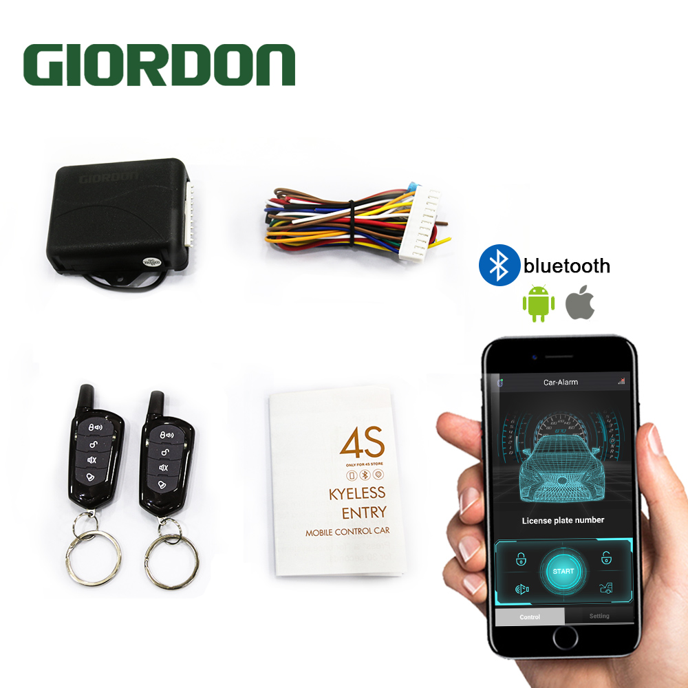 Universal Keyless APP With Remote Contr Entry System Central Locking Auto Remote Central Kit Door Lock Car Alarm Systems